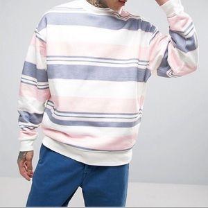 🍁ASOS Oversized Sweatshirt With Stripes
